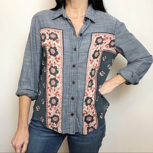 Free People Kerchief Chambray Top